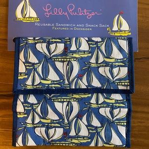 Lilly Pulitzer Reusable Sandwich and Snack Sack